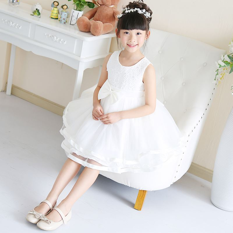 Pageant Dress for Little Girls Kids fashion lace flower girl dresses picture of children casual dress