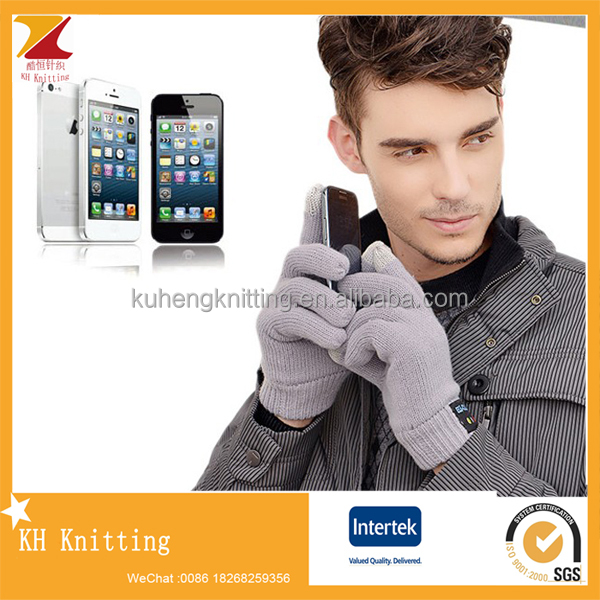 Fashion wireless acrylic bluetooth gloves for mobile phone