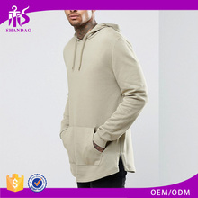 Guangzhou Shandao 100% Cotton Casual Plain Dyed Adult Men Kangaroo Pocket Long Sleeve Pullover Oversized Blank Hoodies
