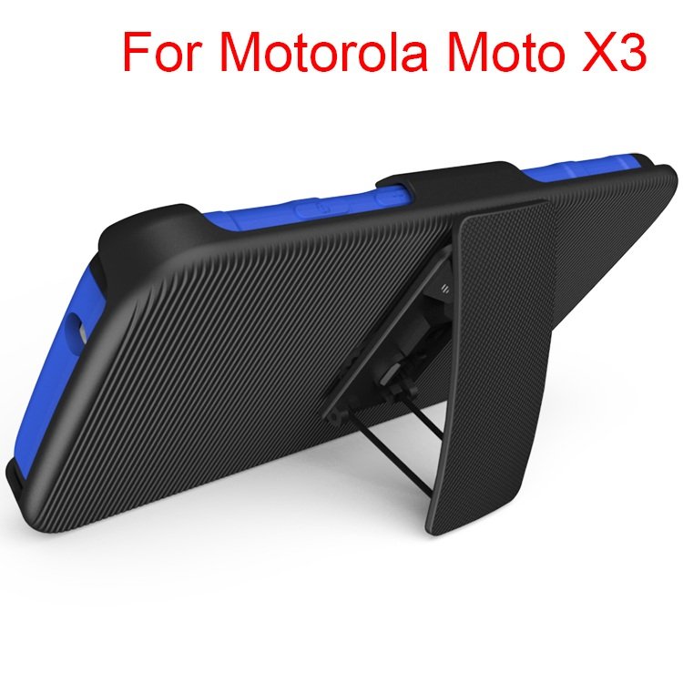China Supplier Belt Clip Combo Holster With Kickstand Phone Case Cover For Motorola X3