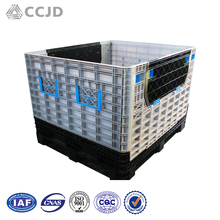 Folding Plastic Boxes Warehouse Storage Pallet Container Totes