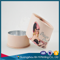 Custom Round Flower Box Packaging Printing