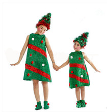DJ-PZ-104 New green party children christmas tree clothes costume junpsuit drees