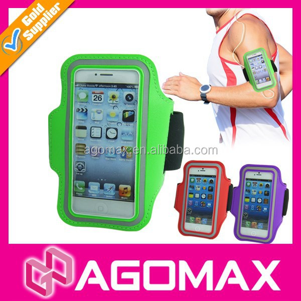 Hot sell cell phone sport arm pouch elastic arm hand phone pouch