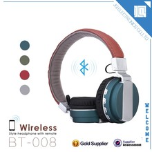 Computer accessories new fashion bluetooth wireless stereo headphones for media player