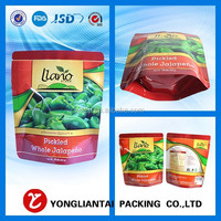custom printed stand up food pack resealable plastic ziploc bag