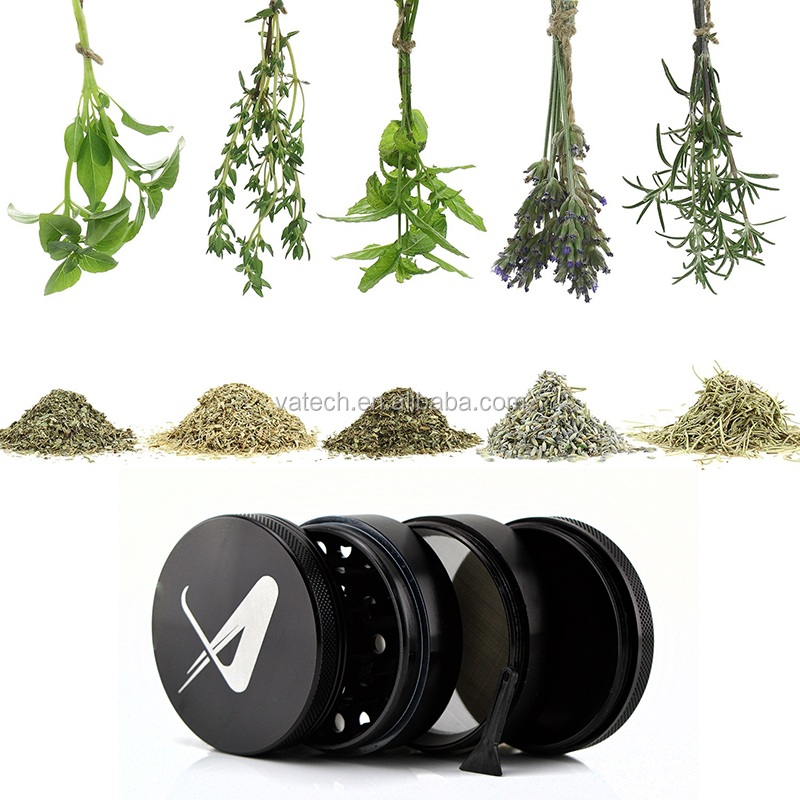 Metal herb grinder Sharp Stone 4 parts 63mm herbal tobacco cnc teeth filter net dry herb vaporizer pen vaporizer vapor e cig