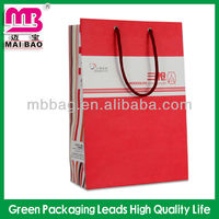 suitable shopping paper bag round handle bag in China