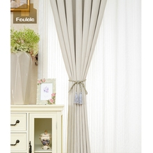 Factory supply high density stripe white cotton curtains type of office window curtain