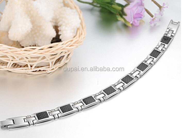 Carbon steel good health magnet Bracelet