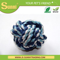 Factory wholesale cheap cotton rope dog ball toy