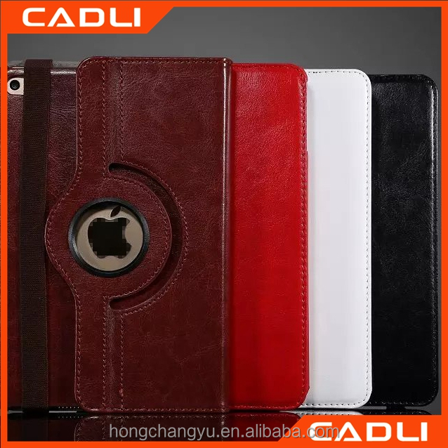 Factory Price Rotatable leather anti finger print phone case for iPad mini 4