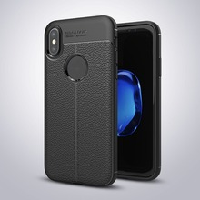 Newest Full Coverage Shockproof Litchi Lichee Pattern Soft TPU Leather PU Back Cover Case For iPhone 8 7 Plus