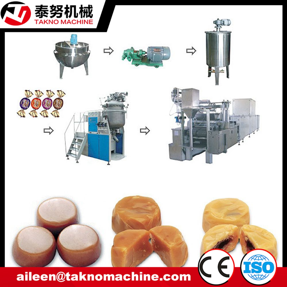 Central Filled Toffee Candy Making Process machinery