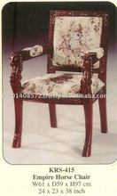 Empire Horse Chair Mahogany Indoor Furniture.