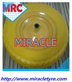 Top Brand Solid Flat free PU Foam Filled Rubber Wheelbarrow Wheel And Tyre 4.80/4.00-8 Low Speed Use