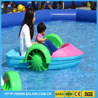 [Exlion]Amusement park water play pedal boat for kids and family ride water park equipment