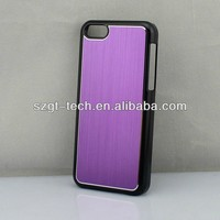Brushed metal case for iphone5C with pc material /for sublimation iphone case
