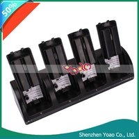 4 In 1 Charger Station + 4 x Battery For Wii Remote Black