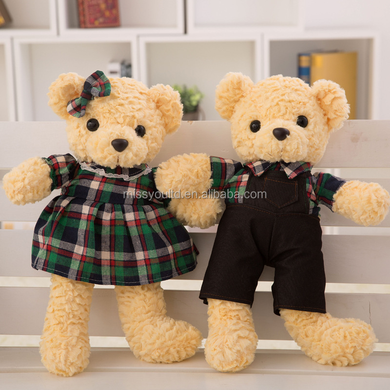 Fashion Custom Teddy Bear With Clothes Plush Stuffed Toys