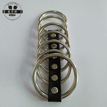 Factory price adult male sex toys stimulator erection 7 cock rings metal penis ring