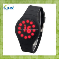 Fashion! hot!! blinking silicone led watches/led touch watch