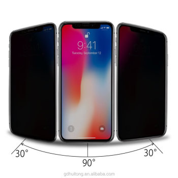 Anti privacy glass for iPhone X screen protector, 9H hardness for iphone X glass