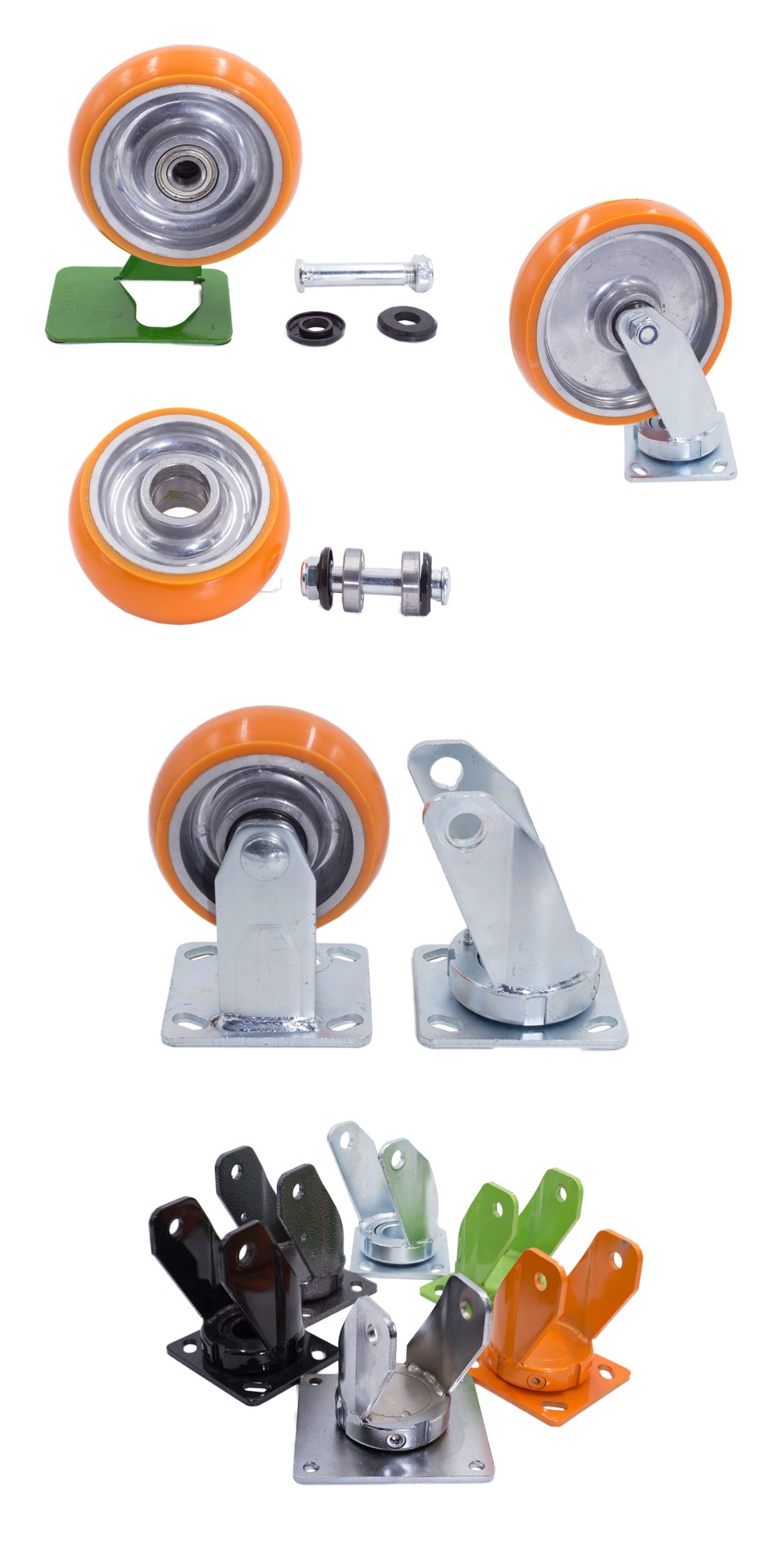 "China supplier wholesale 4"" 5"" 6"" 8"" industrial heavy duty PU caster wheel"