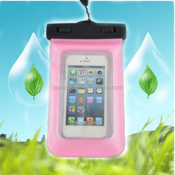 hot sale waterproof cell phone case/pvc waterproof phone