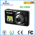 2x - 7x Optical Zoom Winait digital camera DC-V600 disposable camera with 2.7'' TFT display Li-ion battery memory card
