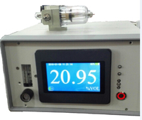 Oxygen purity analyzer with gas flow meter and RS485 output for H2O2 production