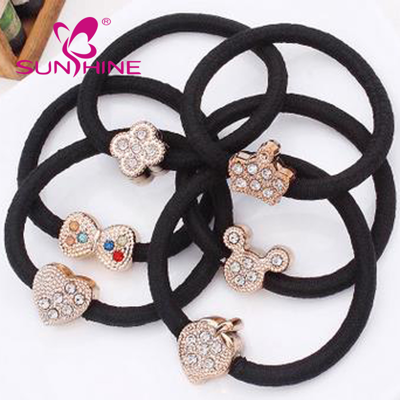 Sunshine Accessories Headdress Elastic Hair Band Simple Small Diamond Pieces Fancy Hair Accessories