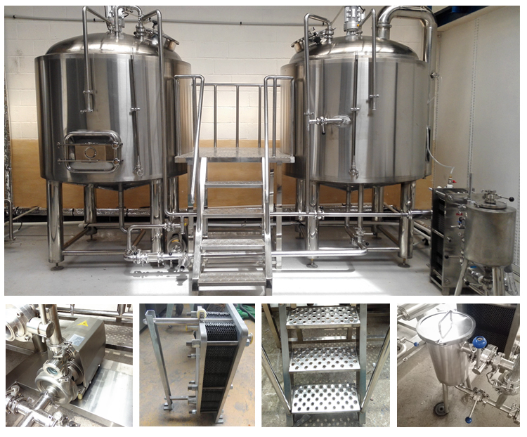 two vessels 15bbl beer brewing fermenting manufacturing equipment