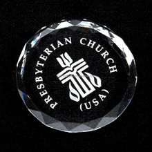 Domed crystal cross paperweight,religious crystal gifts