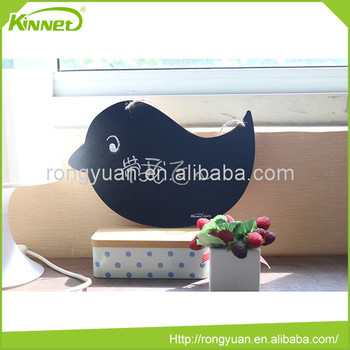 Child hang rope house bird shape home decor blackboard