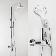 Bathroom Luxury Rain Mixer Shower Set , Shower Head