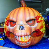 Free shipping height 4m diameter 3m giant inflatable Halloween pumpkin for halloween decoration
