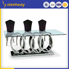 wedding smoked rectangular glass dining table