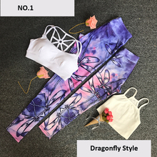 YOUME Brand New Yoga Pants Kids Women Family Matching Stretch Gym Clothes Running Sport Legging Fitness Suiits Tops + Pants