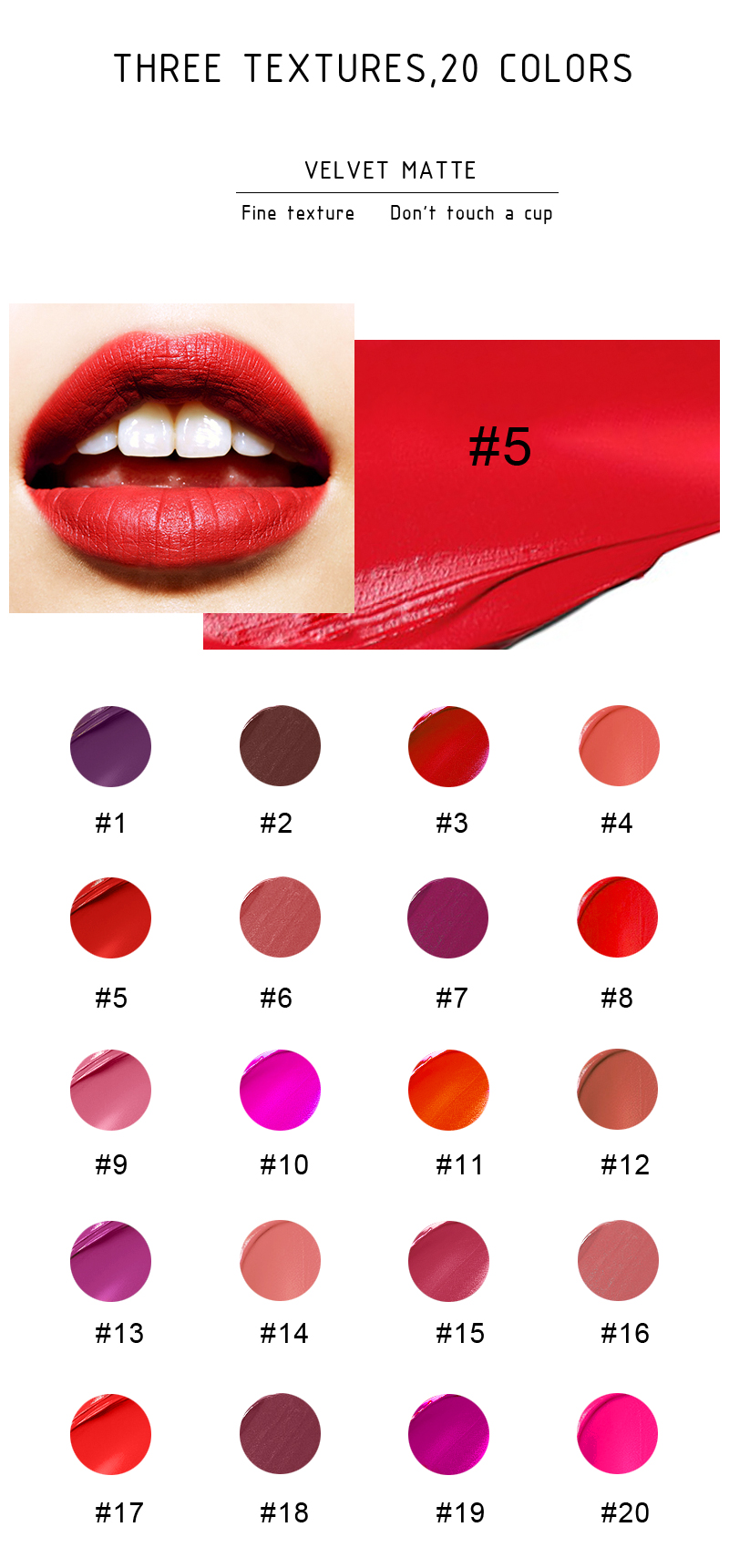 wholesale plain no label matte waterproof liquid lipstick