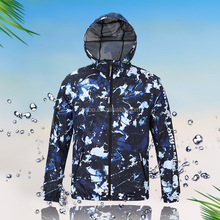 Promotional Cheap Price <strong>Mens</strong> Zip Up Hoodies Wind Breaker Jackets 100 Polyester With Digital Print