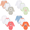 Fantasia Infanti Baby Body 100% Cotton 4 Styles Cute Animal Trimmed Baby Boy Clothes Jumpsuit Carter Winter Romper