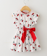 wholesale baby girls white Polka Dot Baby Dress with lovely bow