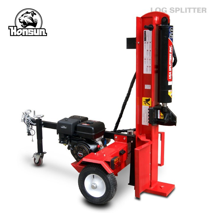 Patent design Wood Processing cutting tool trailer 40 tonne hydraulic log splitter