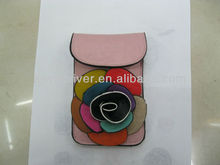 mobile phone flower cosmetic coin purse phone bag