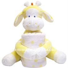 Baby children toy giraffe matching matches blankets