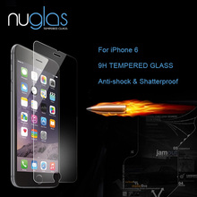 For Apple iPhone 6 Nuglas Top Quality Screen Protector Tempered Glass 0.3mm 2.5D Arc Edge 9H Explosion-proof