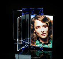 Multi-angle rotation acrylic photo frame transparent plexiglass semicircular arc frame