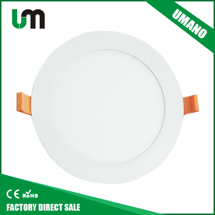 2017 china smd recessed led panel lights ceiling down light slim 18w led round panel light