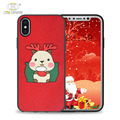 Christmas customise design 2017 new tpu leather design premium for iphone x cover case leather for apple